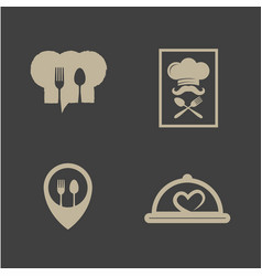 Restaurant icon logo design template packages vector