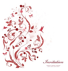romantic floral ornament for your design happy vector image