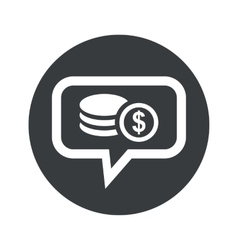 Round dollar rouleau dialog icon vector