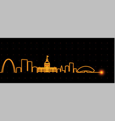 saint louis light streak skyline vector image