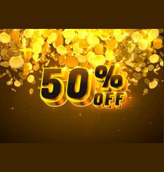 Sale 50 off banner promotion discount flyer big vector