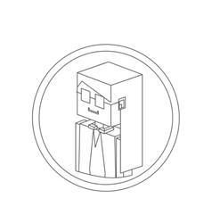 Secretary isometric avatar vector