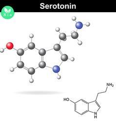 Serotonin molecular structure vector image