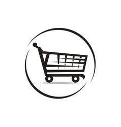 shooping cart icon vector image