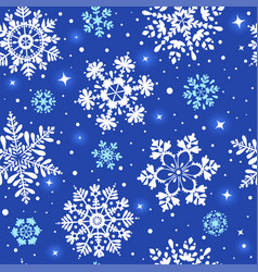 snowflakes blue vector image