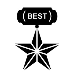 Star for best icon simple style vector image