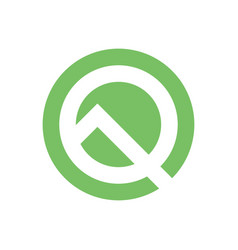 stylized letter q company logo letter q vector image