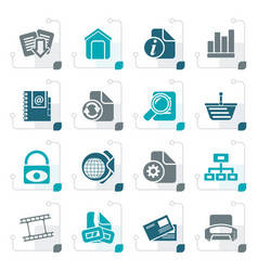 stylized web site and internet icons vector image