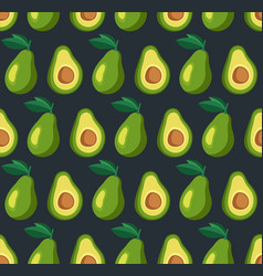 Summer pattern with avocadoes seamless texture vector