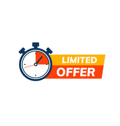 Super limited offer clock time icon promo price vector