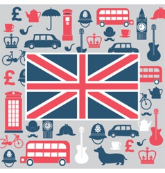 Symbols of Great Britain vector image