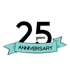 Template Logo 25 Years Anniversary vector image vector image