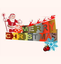 text merry christmas vector image