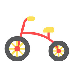 tricycle flat icon bike and toy vector image