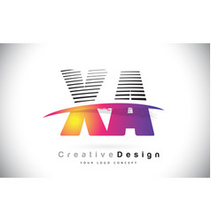 Xa x a letter logo design with creative lines and vector
