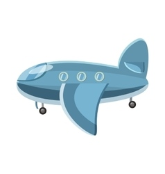 Blue airplane icon cartoon style vector image vector image