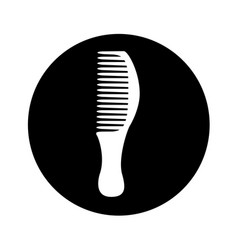 Hairdresser comb isolated icon vector