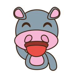 hippo baby animal funny image vector image vector image