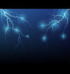 lightning flash strike background vector image