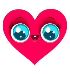 pink cute heart vector image