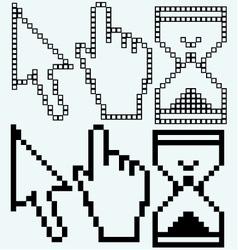 Pixel cursors vector image vector image
