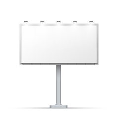 White outdoor billboard with place for advertising vector image vector image