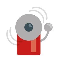 Alarm fire emergency alert icon vector