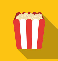 popcorn icon in flat style isolated on white vector image vector image