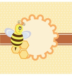 background with funny bee vector image vector image