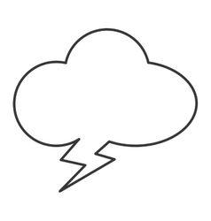 cloudlike conversation bubble icon vector image