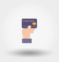 Credit card payment icon vector