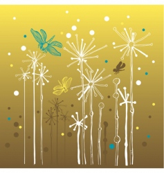 elegant organic background with dragonflies vector image
