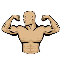 Male body builder logo vector