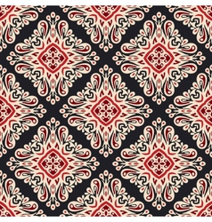 Seamless ethnic style damask pattern vector image