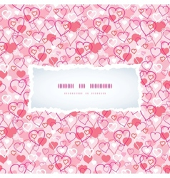 Valentines Day hearts seamless pattern background vector image
