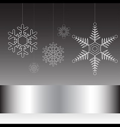 Christmas card black and white vector image vector image