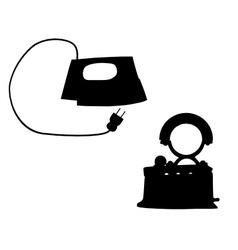 Flat iron vector image