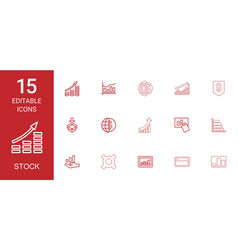 15 stock icons vector image
