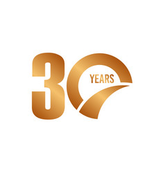 30 year anniversary template design vector image