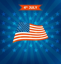 4th of july memorial day vector image