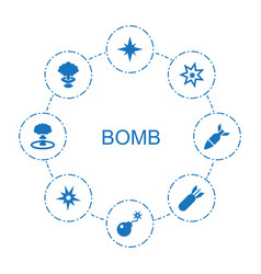 8 bomb icons vector