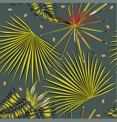 abstract color leaves dark background vector image