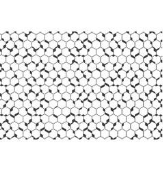 abstract hexagonal pattern design trendy vector image