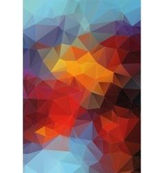 Abstract triangle flat colorful background vector