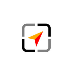 Arrow navigate compass logo template design vector
