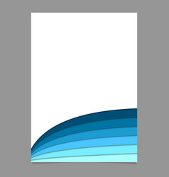 Blank brochure template from curved stripes in vector