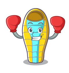 Boxing sleeping bad character cartoon vector