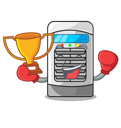 Boxing winner air cooler in cartoon shape vector