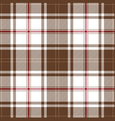 Brown and red tartan plaid seamless pattern vector