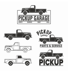 Car 4x4 pickup truck off-road logo elements vector